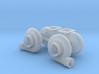 "Mirrored 1/25 Turbo pair 64mm (2.5"") 3d printed"
