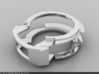 Weird Ring 3d printed