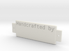 Name Plate 0002 - engrave 3d printed