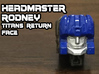 Rodney Faceplate (Titans Return) 3d printed Hand painted frosted ultra detail