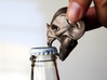 Vampire Head Bottle Opener 3d printed Opening a bottle with the teeth.