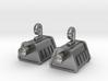 Self Sealing Stembolt Earrings 3d printed