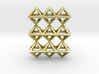 18 Pendant. Perfect Pyramid Structure. 3d printed