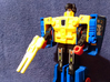 Transformers G1 Punch Gun 3d printed Yellow Strong & Flexible Polished unpainted
