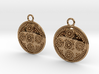 Granulated Round Drop Earrings 3d printed