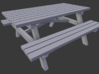 Picnic Table H0 scale (1/87) 6 pieces 3d printed