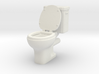 Toilet 01. 1:24 Scale 3d printed
