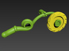 BMOG Brainsaw 3-Part Kit 3d printed Render of tentacle/saw whip