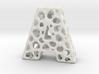 Voronoi Letter ( alphabet ) A 3d printed