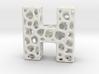 Voronoi Letter ( alphabet ) H 3d printed