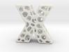 Voronoi Letter ( alphabet ) X 3d printed