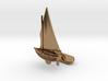 Small Sailing Boat Cufflink II 3d printed