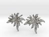 Delphinium Leaf Stud Earring 3d printed