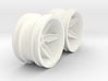 Wheels - M-Chassis - Coffin Spokes - 6mm Offset 3d printed