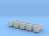 Abfallgroßbehälter 1zu160 10x large garbage can 3d printed