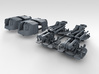 """1/350 4.7"""" MKXII CPXIX Twin Mount x4 Sights Closed 3d printed 3d render showing set"""