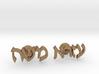 "Hebrew Name Cufflinks - ""Ezra Moshe"" 3d printed"