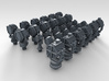 1/500 RN WW2 Searchlight Upgrade Set 3d printed 3d render showing product detail