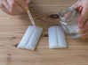 Rocking Compression Mould For The Apple Lightening 3d printed Apply soapy water to the mould.