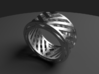 Double Wire Ring 3d printed Rendered Blender Image