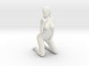 Long Ponytail Girl-036 3d printed