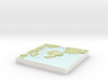 Pearl Island - 15cm / 1:50k 3d printed