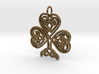 Celtic Shamrock Pendant Elegant Irish Charm 3d printed