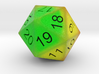 HP Bar heat signature 20 sided countdown dice  3d printed
