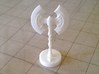 Role Playing Counter: Greataxe 3d printed Greataxe in Strong & Flexible Plastic (Polished White)