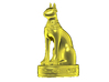 Egyptian Cat Goddess 3d printed Gold Zbrush Render