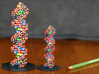DNA Molecule Model Coding Text. Vertical. 2 Sizes. 3d printed Centre: Size standard, uncoated Full Color Sandstone. Left: Size Large, Coated Full Color Sandstone.