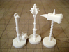 Role Playing Counter: Blunts (Set) 3d printed Blunts in Strong & Flexible Plastic (Polished White)