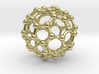 Buckyball C60 Molecule Necklace 3d printed