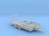 Dump Trailer Long 1-87 HO Scale 3d printed