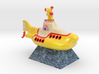 Yellow Submarine in Full Color Sandstone 3d printed Yellow Submarine sitting on a pyramid (movie scene)