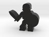 Game Piece, Skeleton Warrior, Shield 3d printed