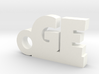 GE Keychain Lucky 3d printed