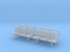 TJ-H04552x4 - bancs de quai 3 places avec dossier 3d printed