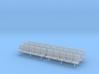 TJ-H04553x6 - bancs de quai 5 places avec dossier 3d printed