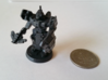 """Fenrix-7"" Robot Knight Commander 28mm 3d printed US Quarter for scale"