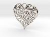 Beautiful Romantic Floral Heart Pendant Charm 3d printed