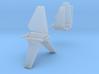 Bad Guy Shuttle Spaceships, Pair, 1:2700 3d printed