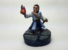 Halfling Wizard 3d printed Painted with acrylic paints on a custom 1 inch base.