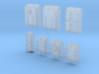 1/600 Royal Navy Assorted Hatches with Blast Plate 3d printed 1/600 Royal Navy Assorted Hatches with Blast Plate