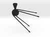 Sputnik 1 Pendant 3d printed