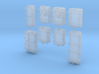 1/400 Royal Navy Assorted Deck Hatches x68 3d printed 1/400 Royal Navy Assorted Deck Hatches x68