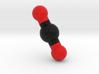 Carbon dioxide, CO2, Molecule Model. 4 Sizes. 3d printed