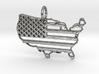 American USA Flag Map Pendant Charm 3d printed