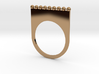 Jewelled flat ring (size 7) 3d printed
