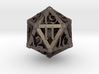 Lattice work D20 with 3D #'s 3d printed